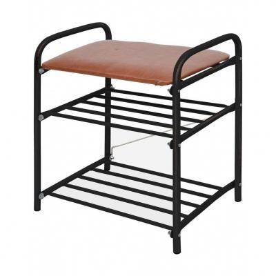 Банкетка разборная 2 полки, мягкое сиденье (50 Х 33 Х 45 см) Б1