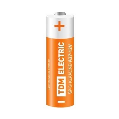 Батарейка (элемент питания) A27 Alkaline 12 В BP-5 TDM ЕLECTRIC