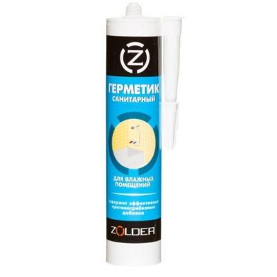 Герметик силиконовый ZOLDER санитарный прозрачный (280 мл)