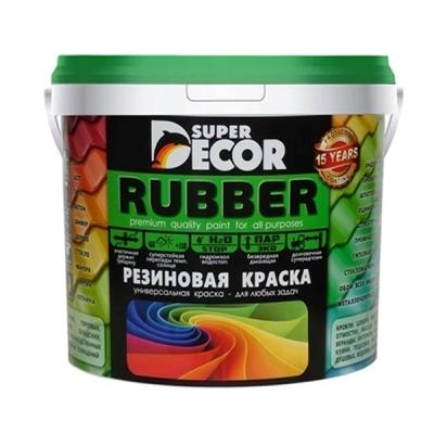 Краска резиновая SUPER DECOR белоснежная 3 кг
