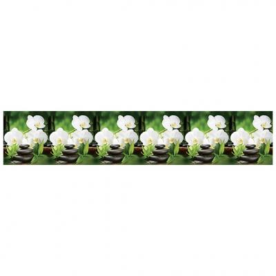 Интерьерная панель ABS орхидея белая 2000х600х1.5 мм