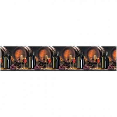 Интерьерная панель ABS вино 2000х600х1.5 мм