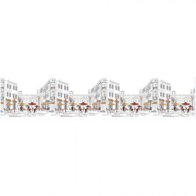 Интерьерная панель ABS уличное кафе 2000х600х1.5 мм
