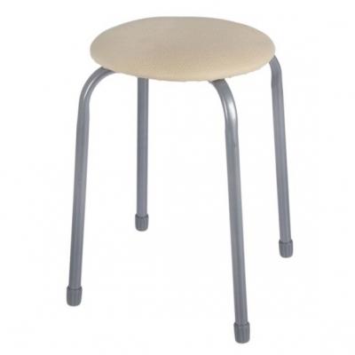 Табурет Классика 2 круглое сиденье 32 см слоновая кость