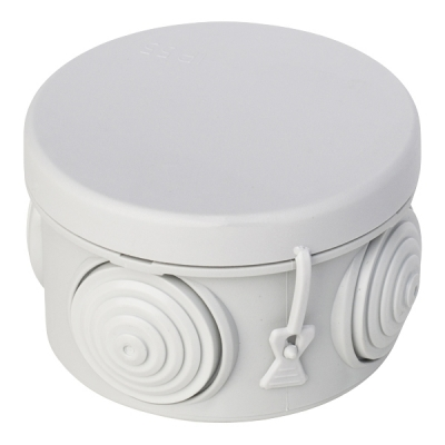Коробка распределительная (распаячная) ОП D60х40 мм серая RuVinil 67010