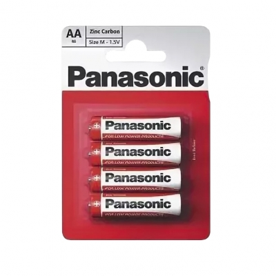 Батарейка солевая R6 АА Zinc Carbon 1.5 В BL-4 (4 шт) Panasonic