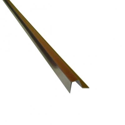 Планка для профлиста (С8) 2000 мм шоколадно-коричневая (RAL 8017)