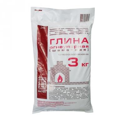 Глина огнеупорная (шамотная) Витеп 3 кг