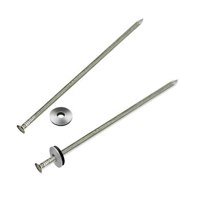 Гвозди шиферные цинк 4х120 мм с шайбой (50 шт)