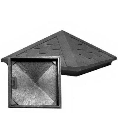 Колпак на столб 185х440х440 мм полимерно-песчаный мокрый асфальт