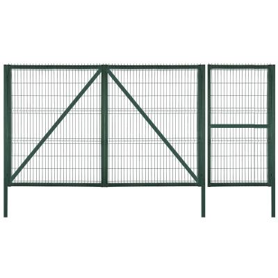 Ворота 3D 1500х3000 мм с калиткой 750х1500 мм