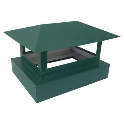 Зонт дымовой 400х520 мм зеленый (RAL 6005) 0.45 мм