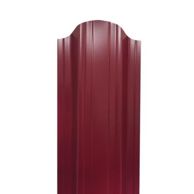 Штакетник П-образный (фигурный) 1800 мм винно-красный (RAL 3005)