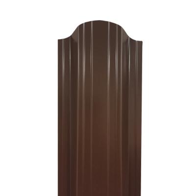 Штакетник П-образный (фигурный) 1800 мм шоколадно-коричневый (RAL 8017)