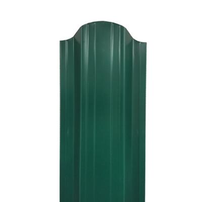 Штакетник П-образный (фигурный) 1800 мм зеленый мох (RAL 6005)