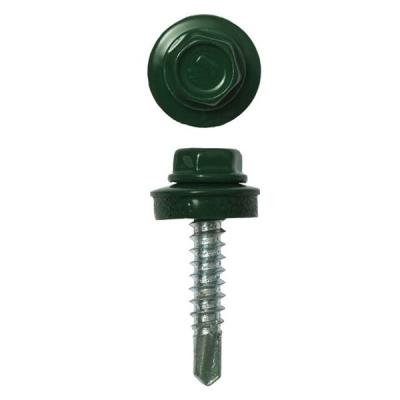 Саморезы (шурупы) кровельные 5.5х19 мм зеленый мох RAL 6005 (300 шт)