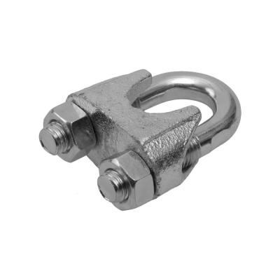 Зажим для троса (каната) 4 мм DIN 741 нержавеющая сталь