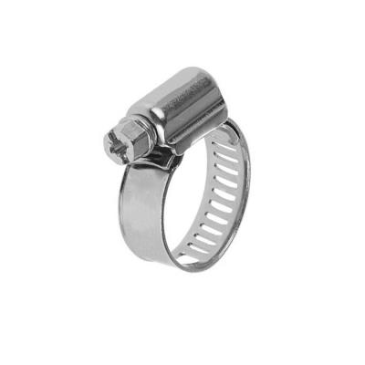 Хомут обжимной (червячный) 9 мм 10-16 мм нержавеющая сталь (2 шт)