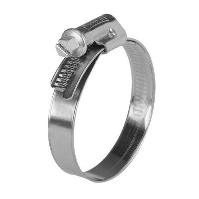 Хомут обжимной (червячный) 9 мм 16-25 мм нержавеющая сталь (2 шт)