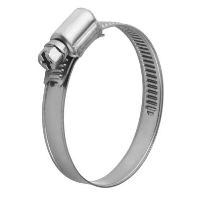 Хомут обжимной (червячный) 9 мм 50-70 мм нержавеющая сталь (2 шт)