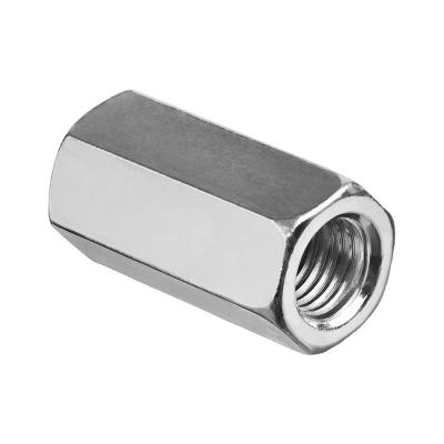 Гайка соединительная (переходная) М10 DIN 6334 цинк (2 шт)