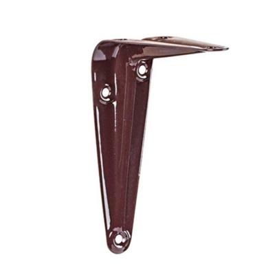Консоль (кронштейн) усиленная 75х100 мм коричневая Металлист