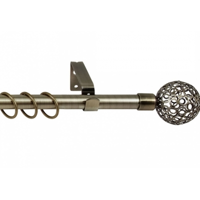 Карниз кованный раздвижной 1-ряд Legrand d-16/19 мм 1.6-3 м ажур антик-золотой