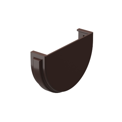 Заглушка для желоба Döcke PREMIUM 120 мм (шоколад)