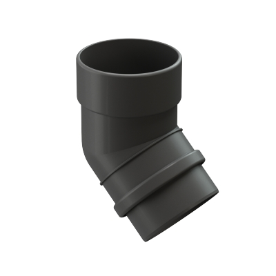 Колено 45° Döcke LUX 100 мм (графит)