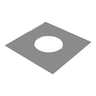 Лист потолочный универсальный ЛПУ-Р (AISI 430, 0.5 мм) 500х500 мм, с отверстием d-180 мм