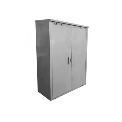 Шкаф для газового баллона (на 2 баллона 50 л) разборный серый