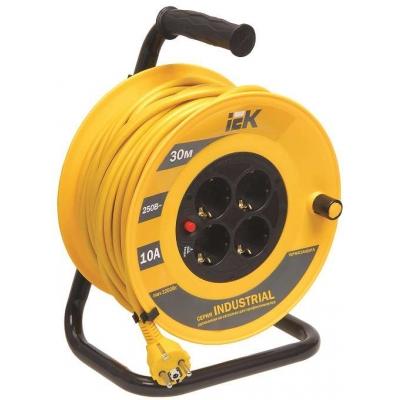 Удлинитель силовой на катушке IEK Industrial УК30 (4х30 м, ПВС 3х1, с термозащитой, с/з)