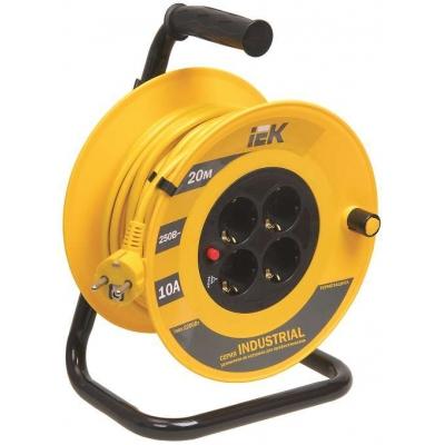 Удлинитель силовой на катушке IEK Industrial УК20 (4х20 м, ПВС 3х1, с термозащитой, с/з)