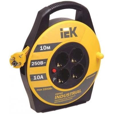 Удлинитель силовой на катушке IEK Industrial УК10 (4х10 м, ПВС 3х1, с термозащитой, с/з)