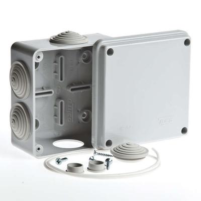 Коробка распределительная (распаячная) ОП 100х100х50 мм серая RuVinil 67050