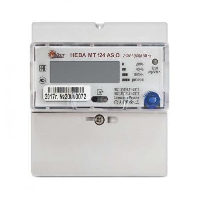 Счетчик электроэнергии Тайпит НЕВА МТ 124 AS O 5(60)А однофазный многотарифный