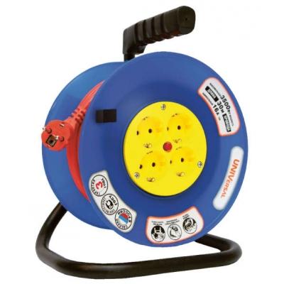 Удлинитель силовой на катушке UNIVersal ВЕМ-250 (4х20 м, ПВС 3х0.75, с термозащитой, с/з)