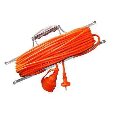 Удлинитель-шнур на рамке UNIVersal УШ-6 оранжевый (1х20 м, ПВС 2х0.75, с крышкой)