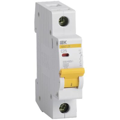 Выключатель автоматический модульный 1П С 25А 4.5 кА ВА47-29 IEK