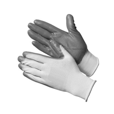 Перчатки нейлоновые с нитриловым покрытием Люкс (резинка)