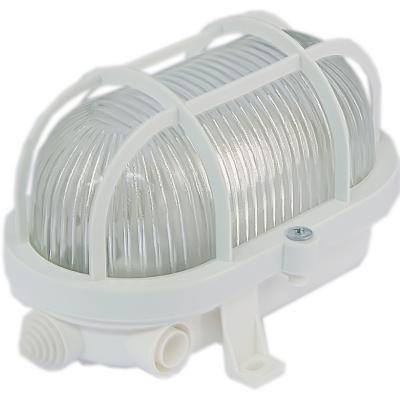 Светильник НБП 02-60-004.03У белый овал 100 Вт с решеткой TDM ЕLECTRIC