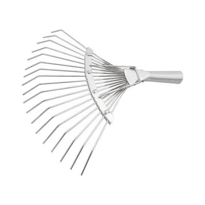 Грабли веерные 18 круглых зубьев без черенка Сибртех