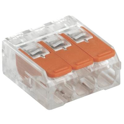 Клемма строительно-монтажная СМК 223-413 на 3 провода 0.2-4 мм² (4 шт) IEK