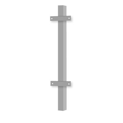 Столб заборный профильный 50х50 мм с проушинами 2400 мм (окрашенный)