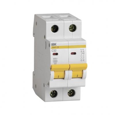 Выключатель автоматический модульный 2П С 32А 4.5 кА ВА47-29 IEK