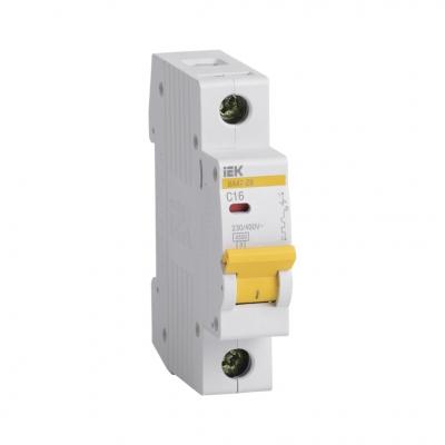 Выключатель автоматический модульный 1П С 16А 4.5 кА ВА47-29 IEK