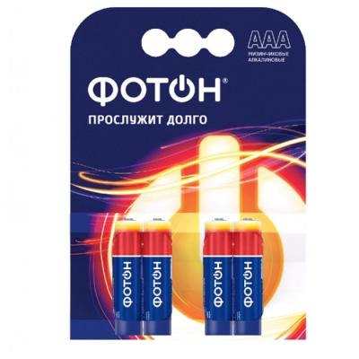 Элемент питания LR03 ААА 1.5 В ОР4 (4 шт) ФОТОН