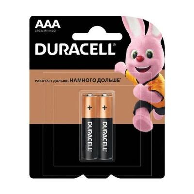 Элемент питания LR03 ААА Basic 1.5 В BP-2 (2 шт) Duracell