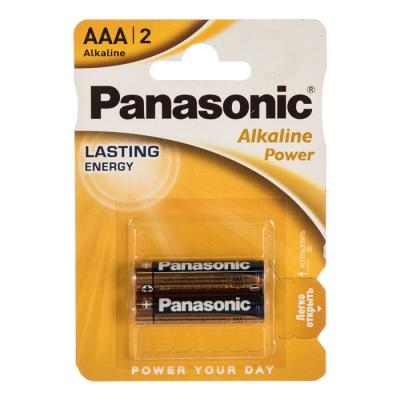 Батарейка щелочная LR03 ААА Alkaline 1.5 В (2 шт) Panasonic