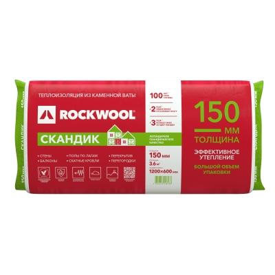 Утеплитель ROCKWOOL Лайт Баттс Скандик XL 150х600х1200 мм (3.6 м²)